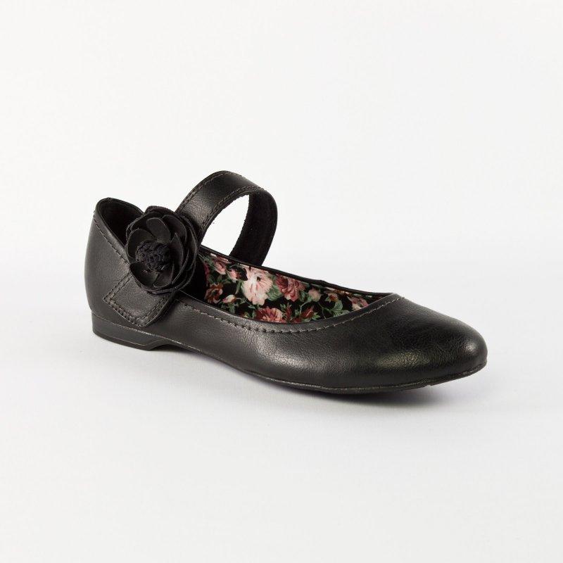 marco tozzi 22113 black ballerine brides noir printemps t chez trois par 3. Black Bedroom Furniture Sets. Home Design Ideas