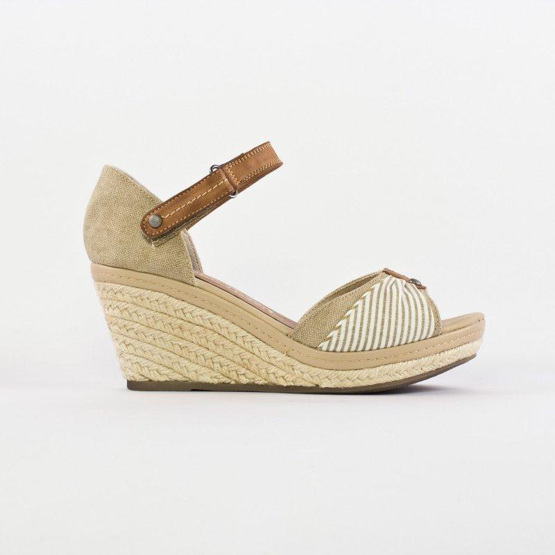 assez bon marché large choix de couleurs premier taux Marco Tozzi 28376 Dune | nu-pied compensés beige printemps ...