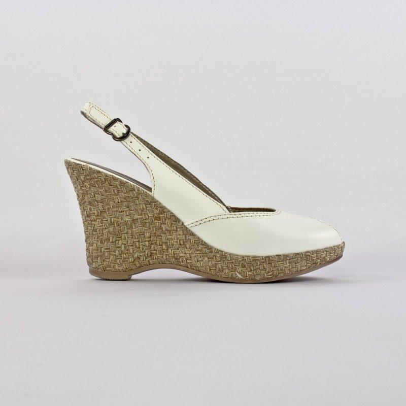 nu pieds compensés blanc mode femme printemps été vue 3