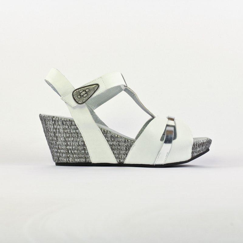 grande variété de modèles code promo conception populaire Mamzelle Moly Blanc | nu-pied compensés blanc printemps été ...