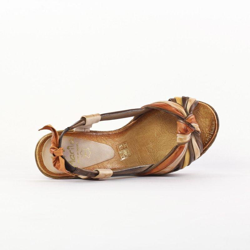 4d9e59e1fe6f9b Marila 8011 Multi Cuero | nu-pied compensés marron printemps été ...