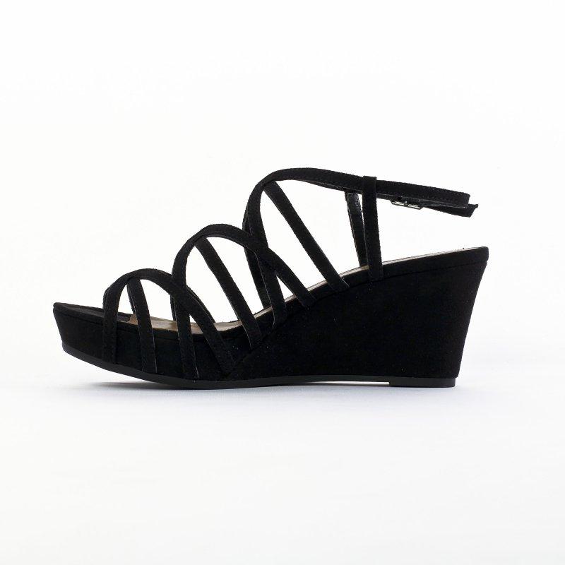 86acb64653ed nu-pieds compensés noir mode femme printemps été vue 2