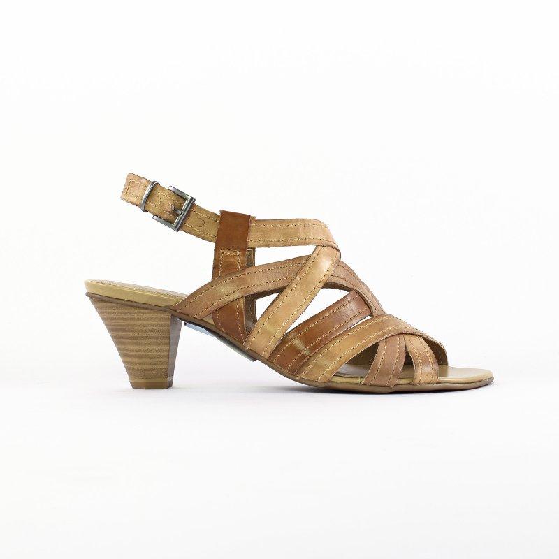 nu pieds talons hauts marron mode femme printemps été vue 2
