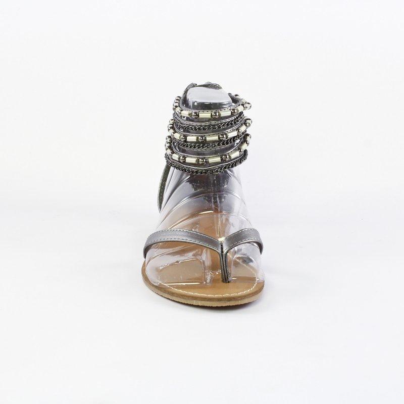 Les tropeziennes genial etain sandales gris printemps - Chaussures originales pas cher ...