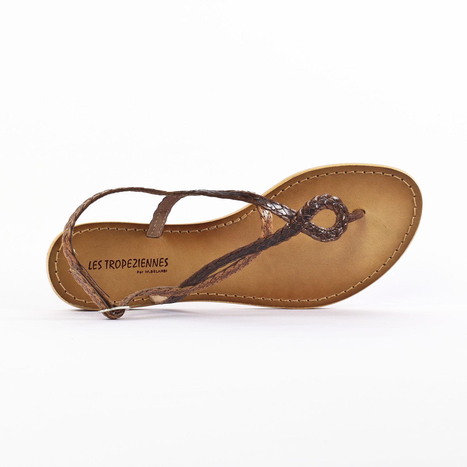 les tropeziennes health marron sandales marron printemps t chez trois par 3. Black Bedroom Furniture Sets. Home Design Ideas