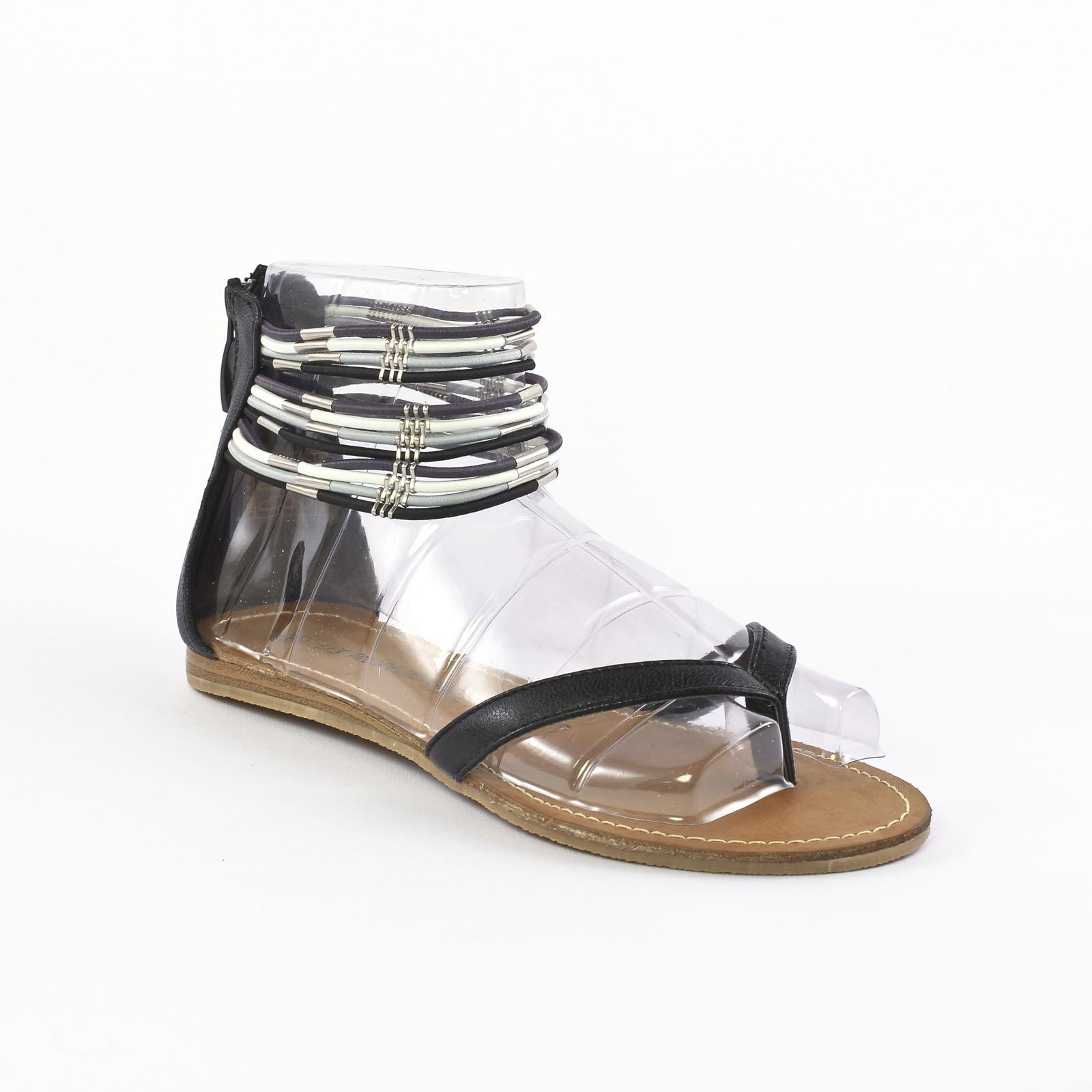 les tropeziennes gamegi noir gris sandales noir printemps t chez trois par 3. Black Bedroom Furniture Sets. Home Design Ideas