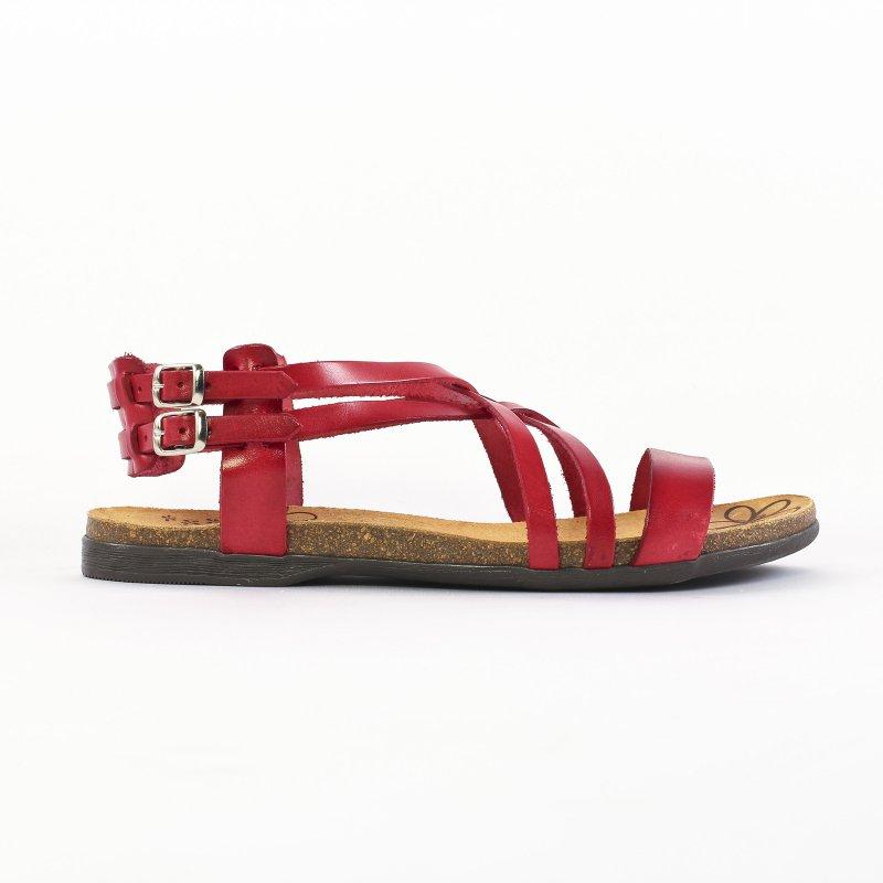 a4325894a22 sandales rouge mode femme printemps été vue 2