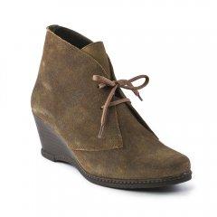 bottines-compensees marron: même style de chaussures en ligne pour femmes que les Tamaris
