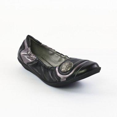Ballerines Fugitive Kluny Metis Noir, vue principale de la chaussure femme