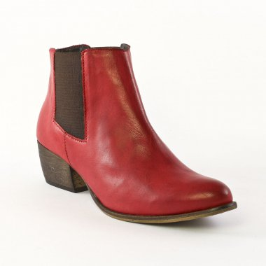 Flora Schisina Ba1371 Rouge Boot Cavalieres Rouge Automne Hiver