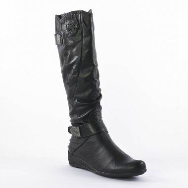 Bottes Mamzelle Edwige Noir griffée Scarlatine, vue principale de la chaussure femme