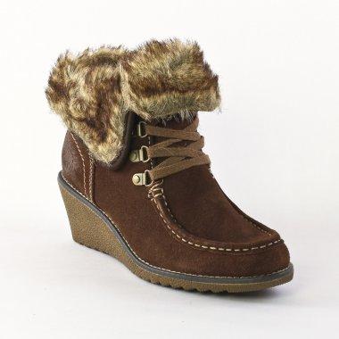 Bottines Et Boots Marco Tozzi 26134 Café, vue principale de la chaussure  femme. bottines compensées marron mode femme automne hiver