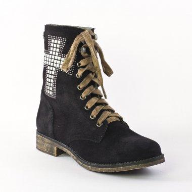 Bottines Et Boots Mtng 57145 black, vue principale de la chaussure femme