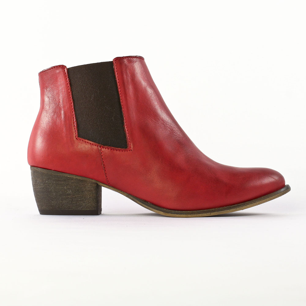 flora schisina ba1371 rouge | boot cavalières rouge automne hiver
