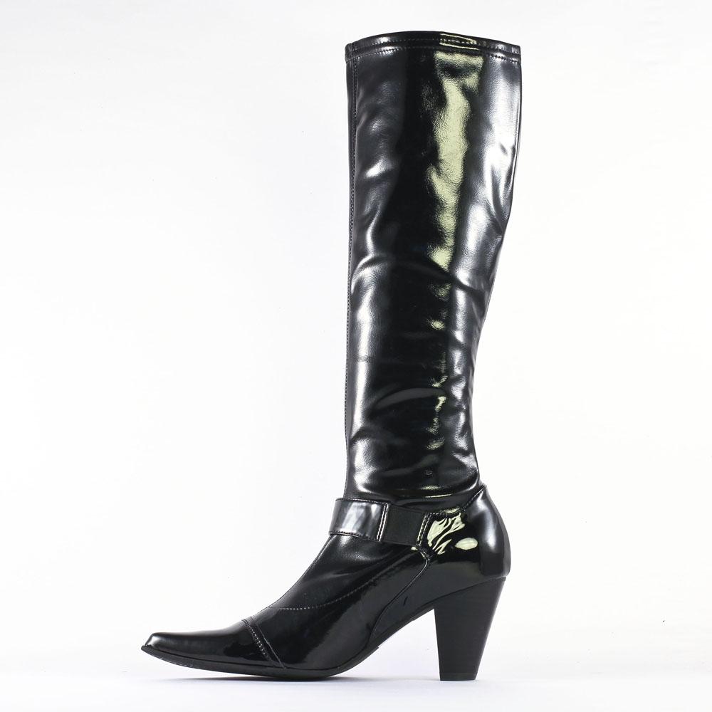 Fugitive Aboi Vernis Noir | botte chaussettes noir vernis