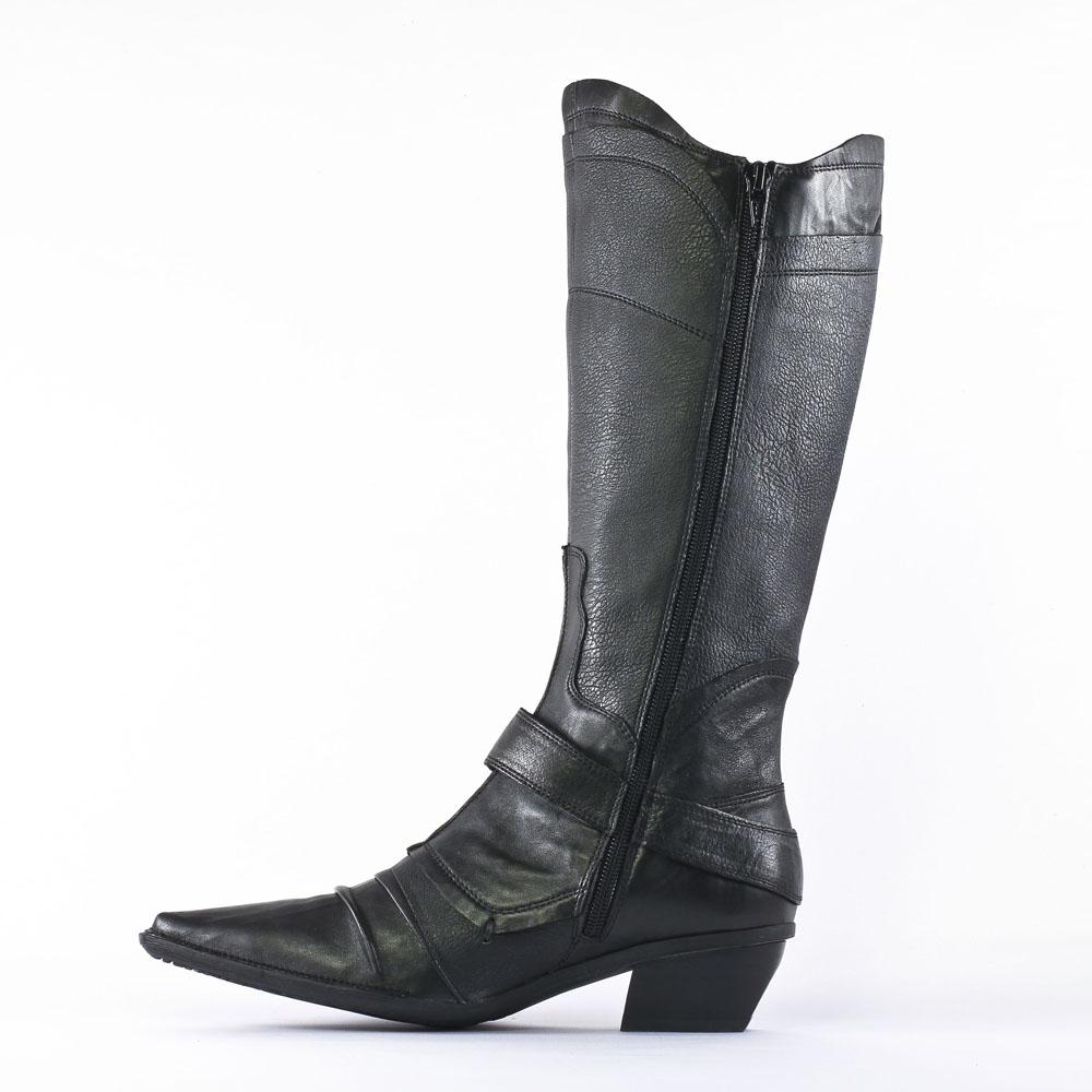 fugitive fuego veau noir bottes noir automne hiver chez trois par 3. Black Bedroom Furniture Sets. Home Design Ideas