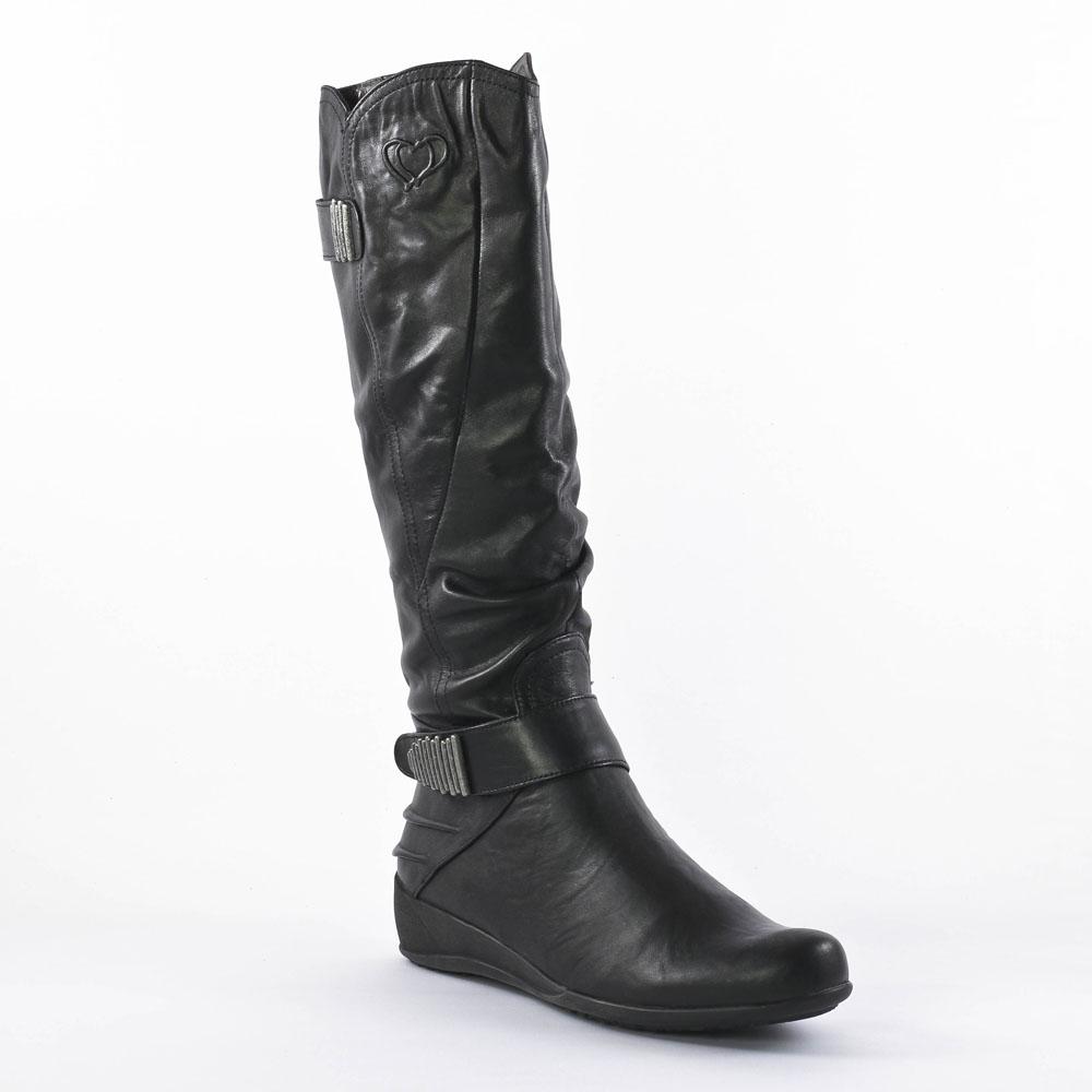 bottes noir mode femme automne hiver vue 1