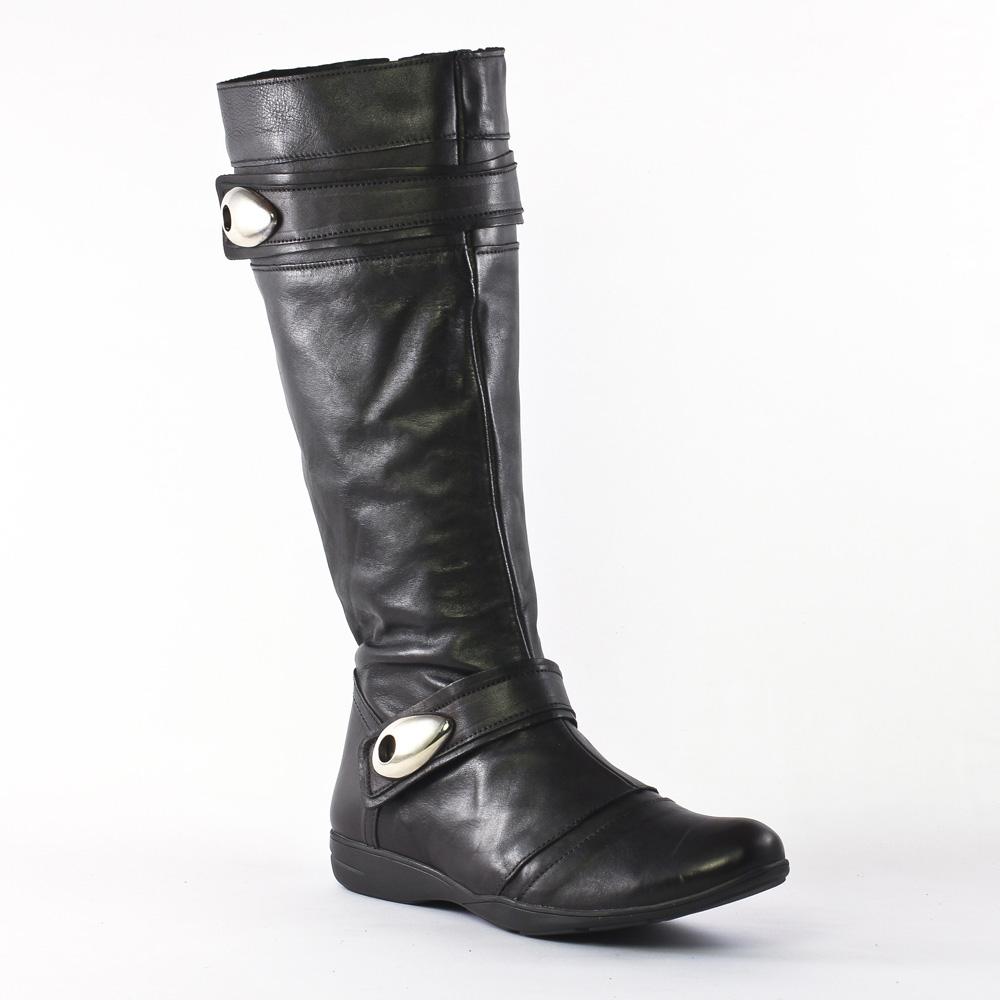 scarlatine 3325 noir bottes noir automne hiver chez trois par 3. Black Bedroom Furniture Sets. Home Design Ideas