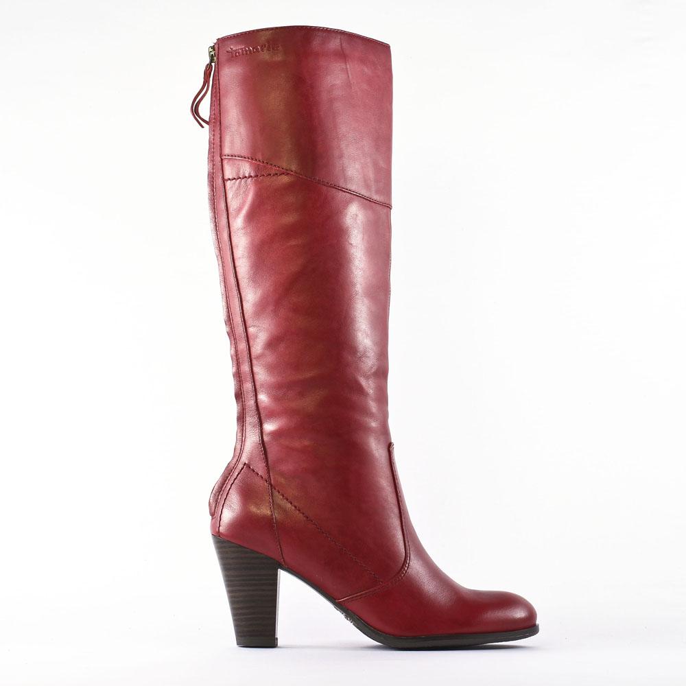 bottes rouge mode femme automne hiver vue 2