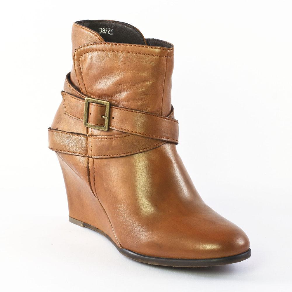 spm neta cuoio | bottine compensées marron clair automne hiver