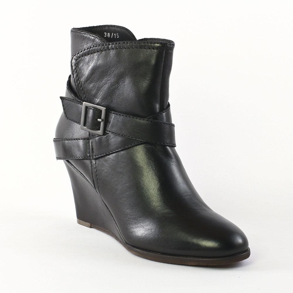 Chaussures femmes automne hiver: Bottines Compensées - noir