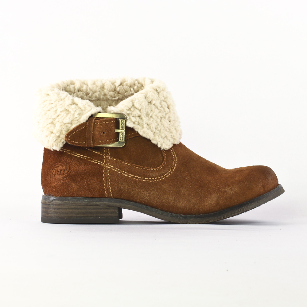 chaussures boots fourrées marron AEDQdbsnFx