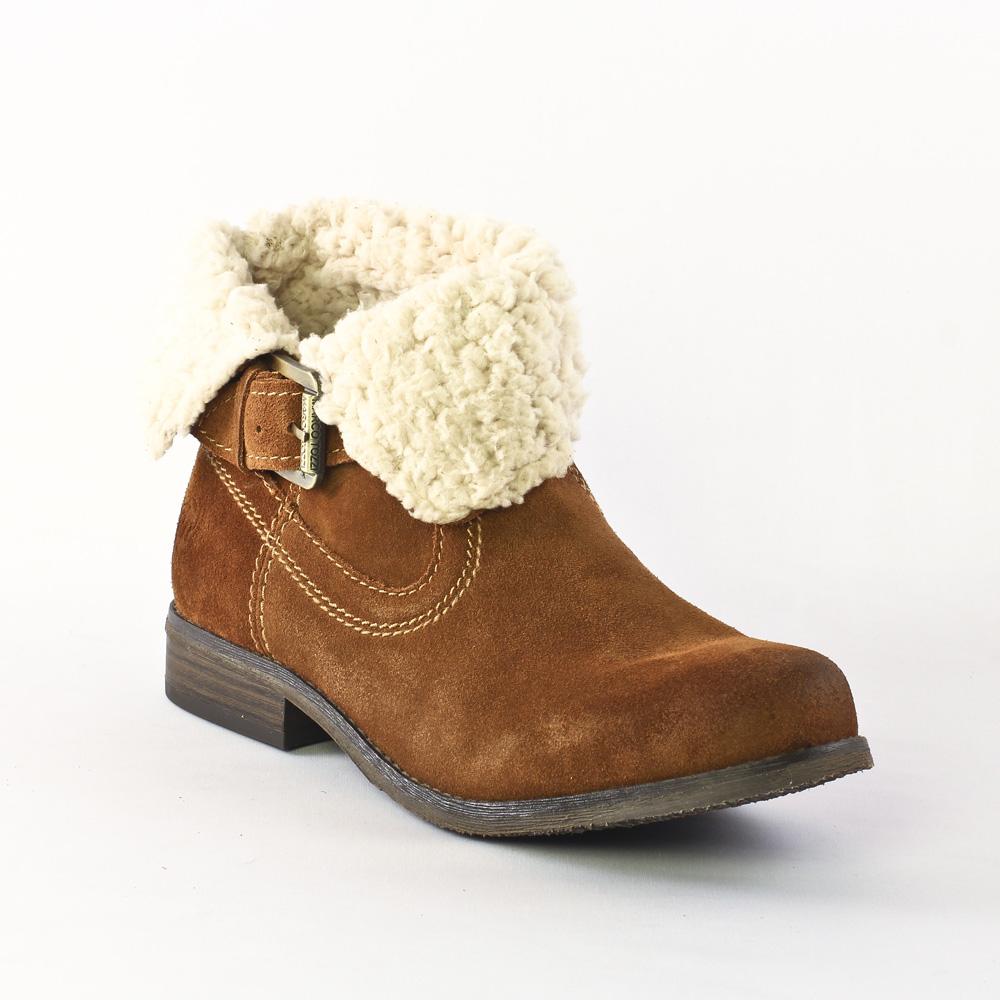2bfbe877e40 bottines fourrées marron mode femme automne hiver vue 1