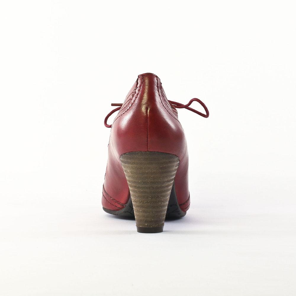 spm ka6244160 red | low boots rouge automne hiver chez trois par 3