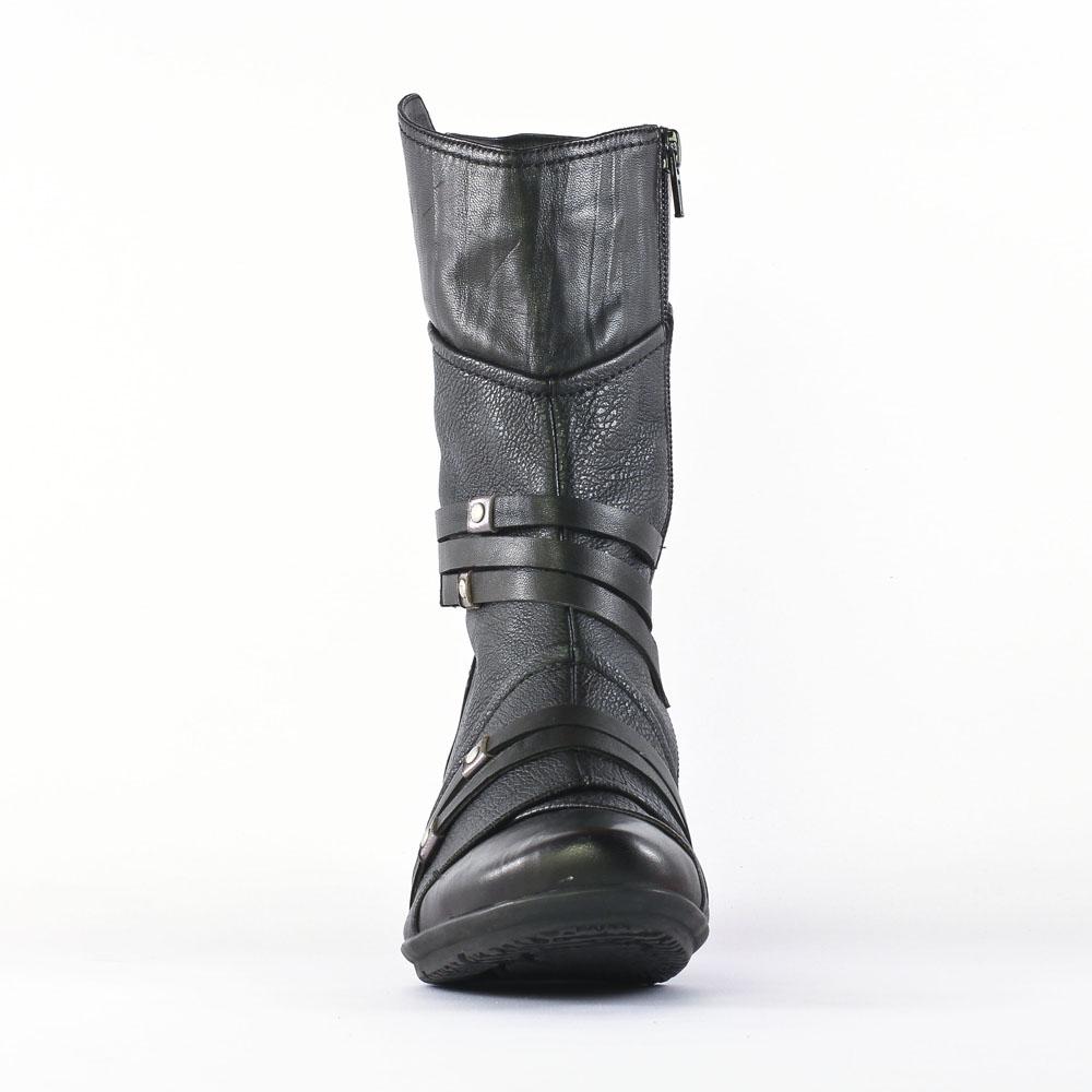 fugitive menix veau noir   mi-bottes noir automne hiver chez trois