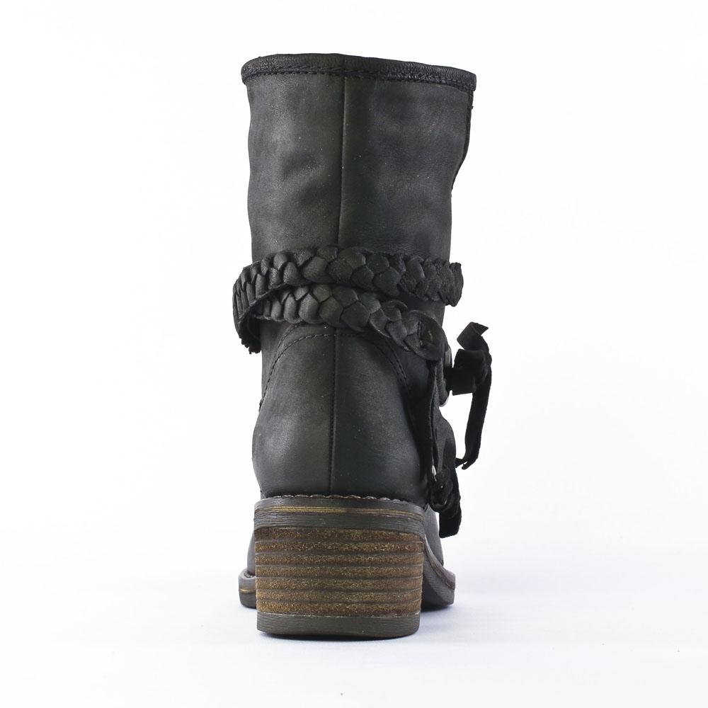 spm abbotsford black | mi-bottes noir automne hiver chez trois par 3