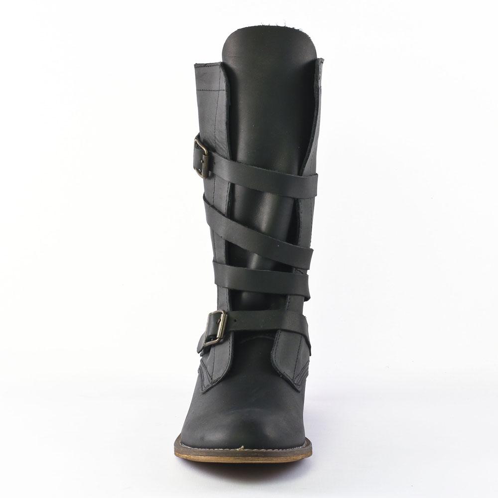 spm oklahoma black   mi-bottes noir automne hiver chez trois par 3