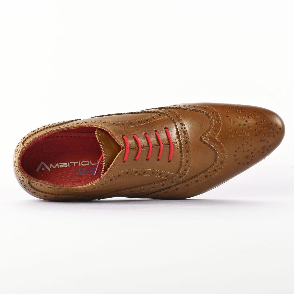 Chaussures à lacets orange homme Qzjn6wZz